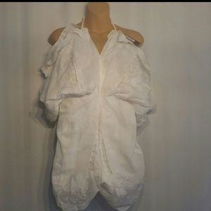 NASTY GAL White cotton romper